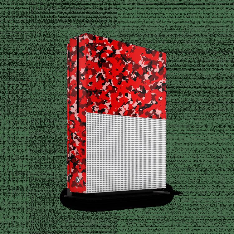 Xbox One S army camouflage sticker rood skin Ucustom