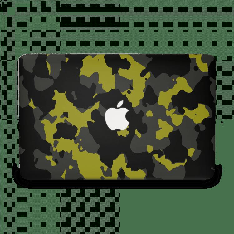 Macbook13GeelDefconCamoSkin