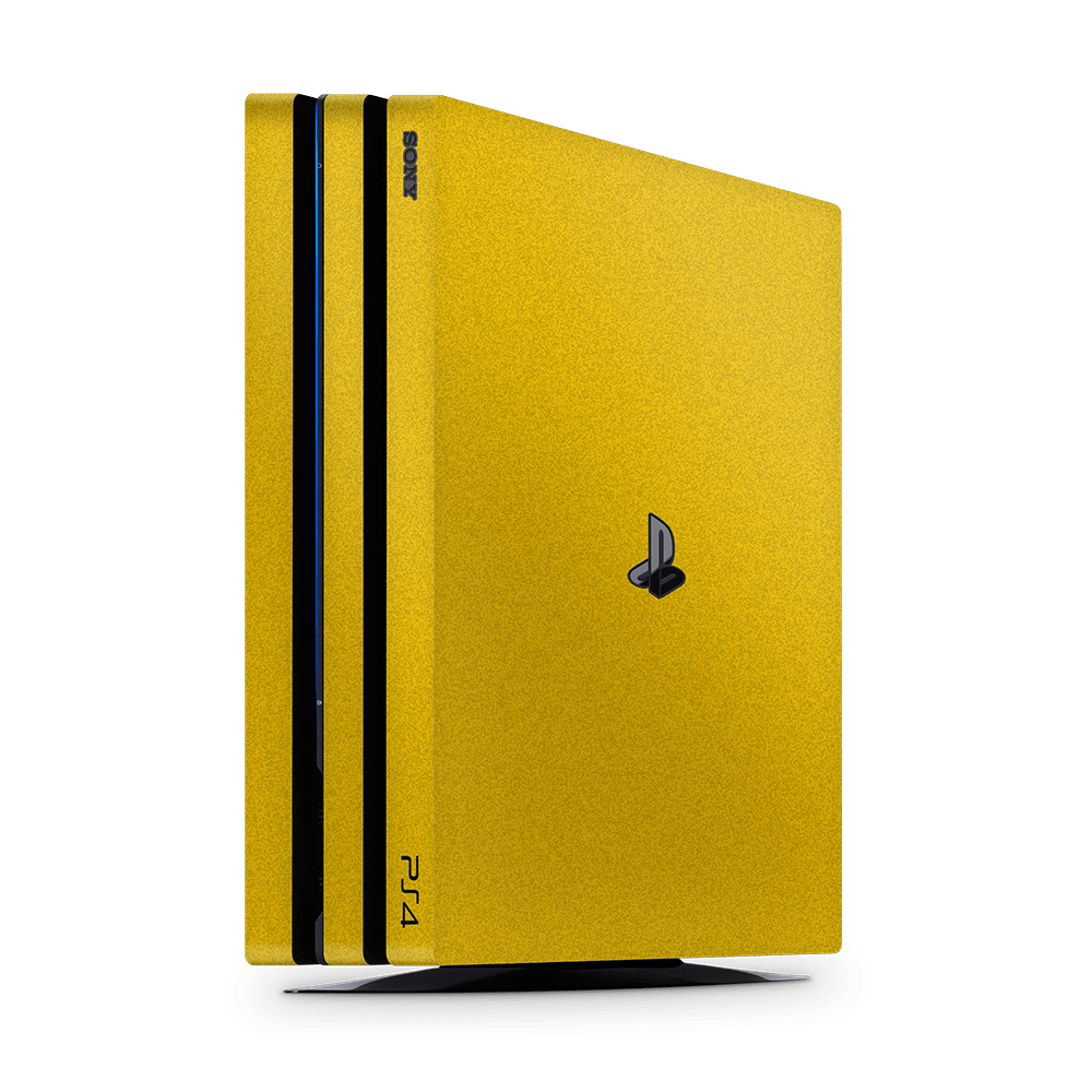 Playstation 4 Pro Faded sticker geel skin Ucustom