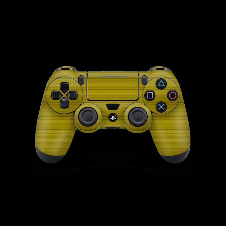 Playstation 4 Controller Brushed sticker geel skin Ucustom