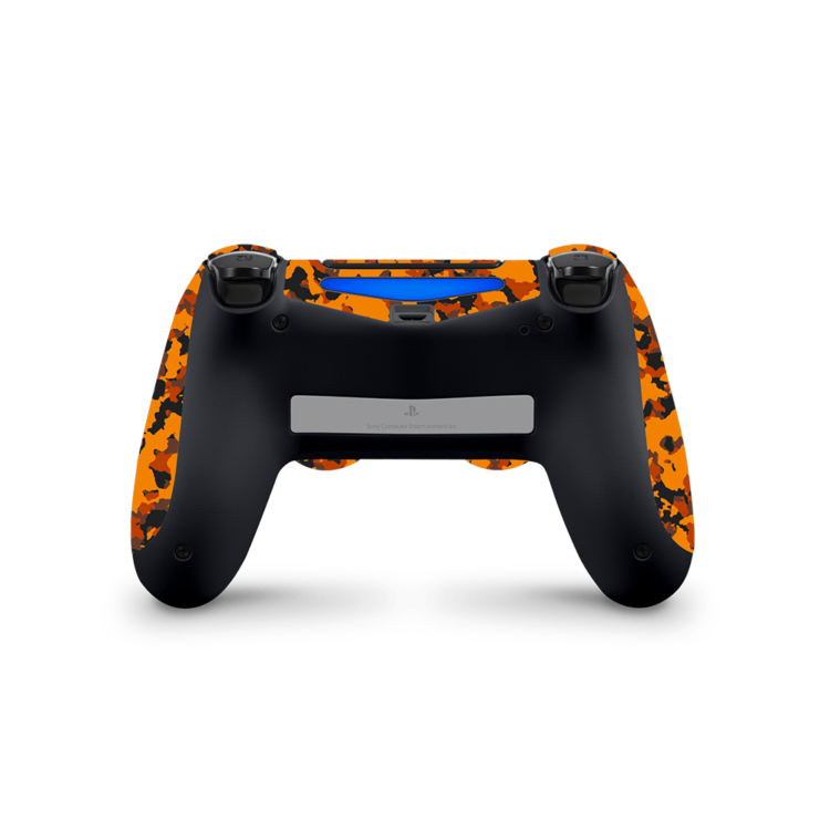Playstation 4 Controller Camouflage sticker oranje skin achterkant Ucustom