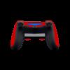 Playstation 4 Controller Faded sticker rood skin achterkant Ucustom