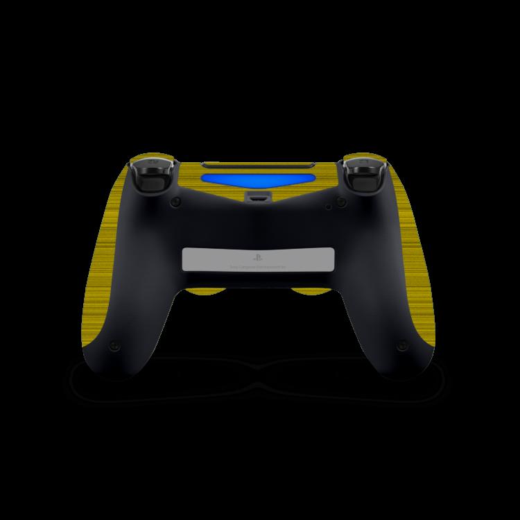 Playstation 4 Controller Brushed sticker geel skin achterkant Ucustom