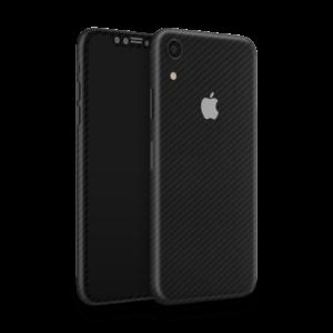 Zwarte carbon iPhone XR skin Ucustom