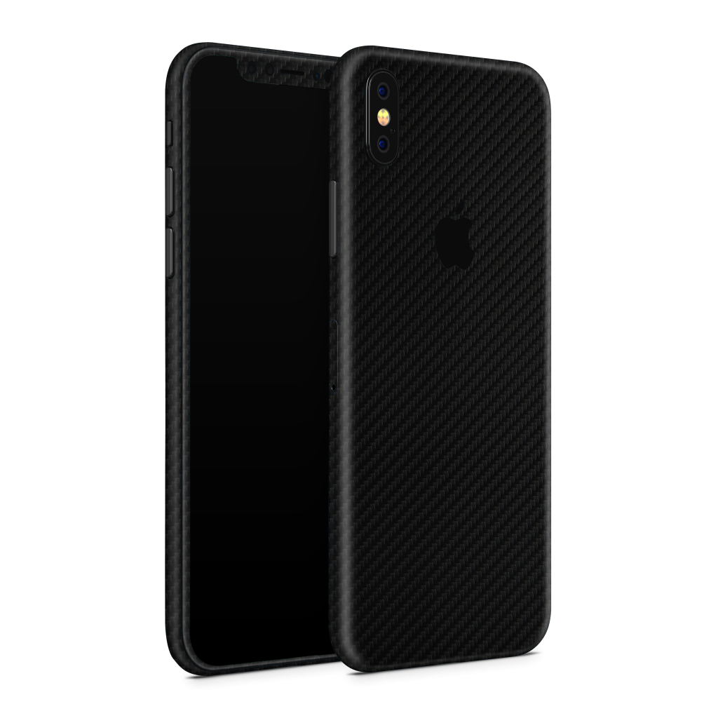 iPhone XS Skin Zwart Carbon Ucustom