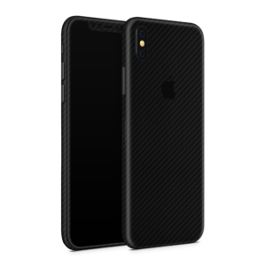 iPhone XS Skin Zwart Carbon Ucustom